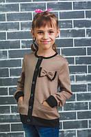 Пиджак школьный с бантиком беж