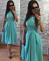Платье Беби-дол в складку мята