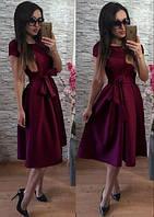 Платье Беби-дол в складку бордо