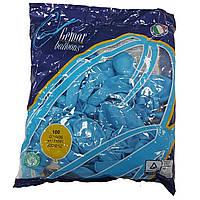 """Шары 12"""" 30 см пастель голубые №09"""