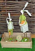 Декоративні фігури Зайці весняні Интерьерные статуэтки Зайцы