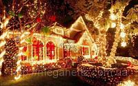 Новогодняя светодиодная гирлянда 300 диодов белая