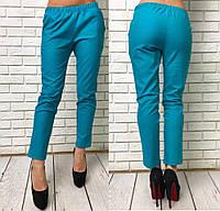 Отличные брюки полуприталеного кроя на любой случай жизни. Брюки средней посадки, на резинке, в виде пояса.