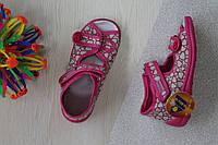 Тапочки на девочку ViGGaMi с бантиком розочкой р.20,21,26,27
