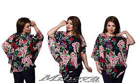 Блузка женская цветы 64