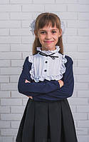 Кофта трикотажная для девочки т.синяя