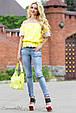 Блуза 1809 желтый-белый, фото 2