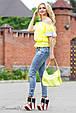 Блуза 1809 желтый-белый, фото 3