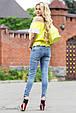 Блуза 1809 желтый-белый, фото 4