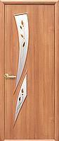 Двери межкомнатные Новый Стиль, МОДЕРН, модель Камея ПВХ, стекло сатин и рис. Р1