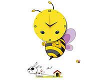 """Настенные 3D часы в детскую """"Пчелка"""""""