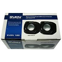 Колонки Sven 120 (black), 2x2,5W, USB