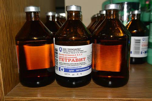 Тетравит 100,0 комплексный ветеринарный витаминный препарат