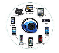 Беспроводные Bluetooth - наушники Mini-503 BH503. Синие