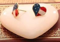 """Сережки """"Американские сердечки"""""""