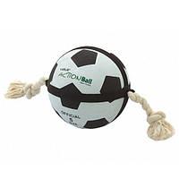 Мяч Karlie-Flamingo Actionball для собак футбольный на веревке, 12.5 см