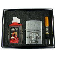 Зажигалка     бензиновая набор 3в1 зажигалка,бензин,мундштук4713...4723(типа ZIPPO)