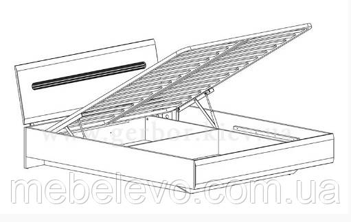 Кровать Ацтека LOZ160 с подъемным механизмом БРВ 860х1650х2140мм белый глянец + венге магия - фото 3