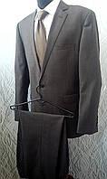 Мужской деловой костюм Marks & Spencer серо-коричневый