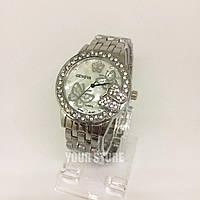 Часы женские с бабочкой серебро