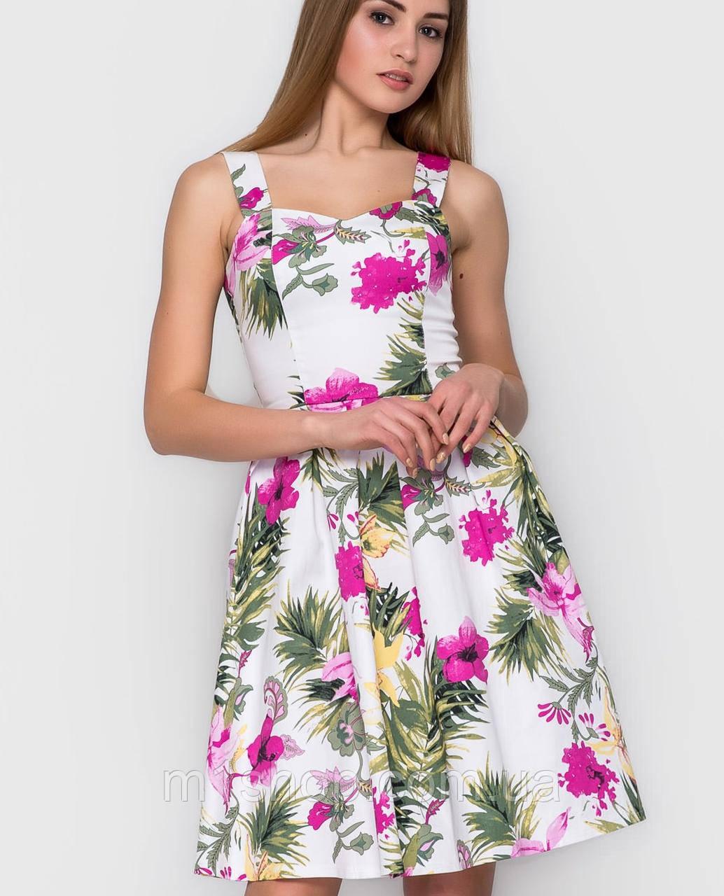 Платье цветочный принт | Goldy sk
