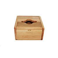 Диспенсер для салфеток деревянный (куб) 748897