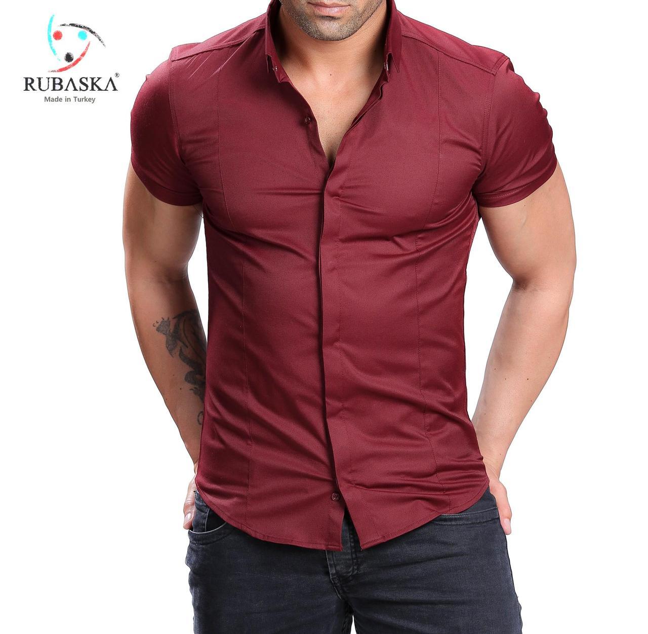 87f7156043d Летняя рубашка мужская бордовая  продажа