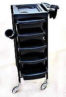 Парикмахерская тележка,черная, пластик
