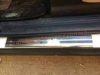 Накладки на дверные пороги Omsa на Land Rover Discovery 2004-2009
