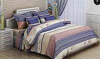 Двуспальный комплект постельного белья VERCACE (голубой)