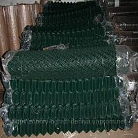 Сетка рабица стальная 2,4 - 30х30 мм - 1,2х10 м в ПВХ , фото 1