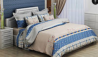 Двуспальный комплект постельного белья из бязи голд 180х220 Нежность (голубой фон)
