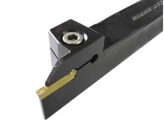 MGEHR2525-2 Резец отрезной, канавочный (державка токарная отрезная канавочная со сменной пластиной)
