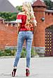 Блуза 1813 красный-белый, фото 4