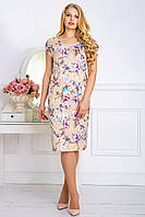 Платье летнее с оригинальной спиной  в 3х цветах