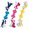 Кость Karlie-Flamingo Good4Fun Bone With Rope для собак на веревке, латекс, 9 см