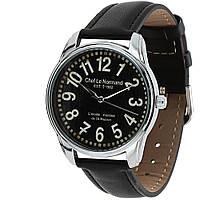 """Часы мужские черные наручные """"Нормандия"""" с большими цифрами"""
