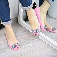 Балетки силиконовые Wella розовые 3320, сандалии женские
