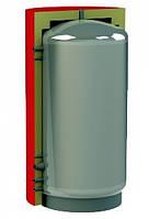 Ємність акумуляційна із спіральним теплообмінником для гарячого водопостачання та нижнім спіральним теплообмінником із чорної сталі для сонячних