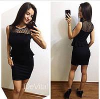 Женское облегающее платье черного цвета, фото 1