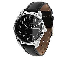 """Часы мужские черные наручные """"Антиквариат"""" с большими цифрами"""