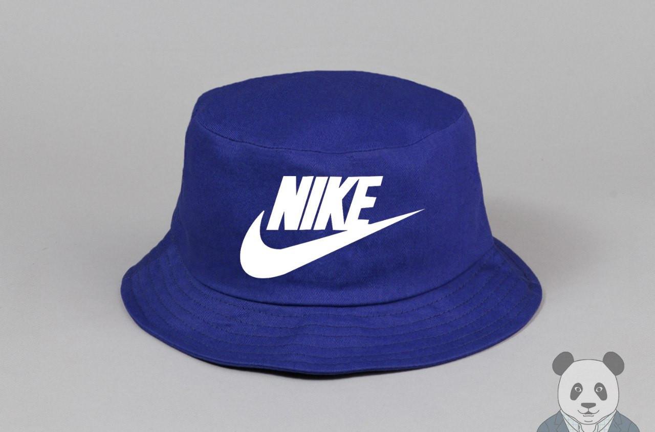 Модная синяя панамка найк,Nike