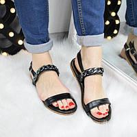 Босоножки женские Steel черные 3317, летняя обувь