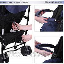Детская коляска-трость King Синяя (M 3427-4) с чехлом для ножек, фото 3