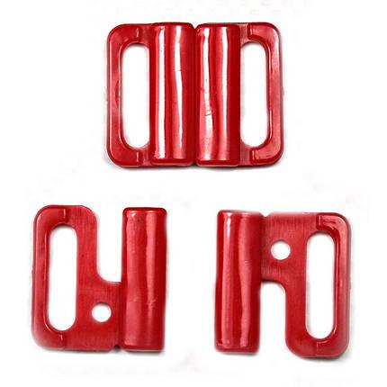 Застібка для куп-ка червона, шир. 1,5 см, фото 2