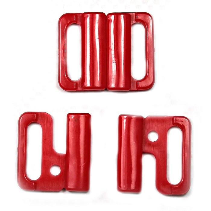 Застібка для куп-ка червона, шир. 1,5 см
