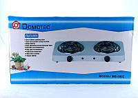 Электроплита на две конфорки Domotec MS-5802 Плита переносная кухонная