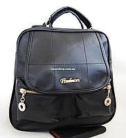 Кожаный женский рюкзак. Женская сумка-портфель эко-кожа. СР06