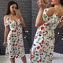 Летние платье с открытыми плечами