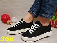 Кеды женские на высокой платформе черные, слипоны, женская обувь, кроссовки, криперы